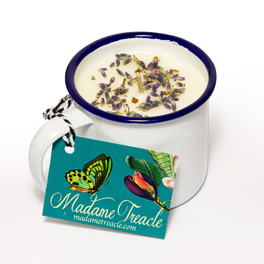 Lavender cup candle