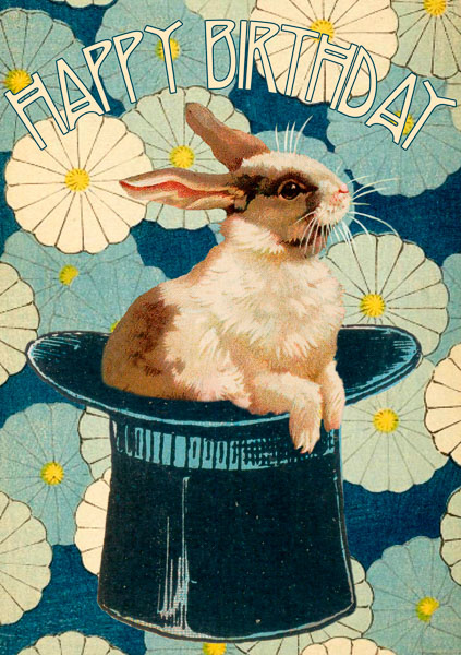 Madame Treacle Rabbit greeting Card