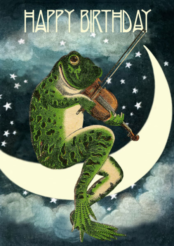 Madame Treacle Frog greeting Card