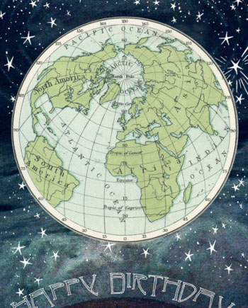 Madame Treacle New World greeting Card