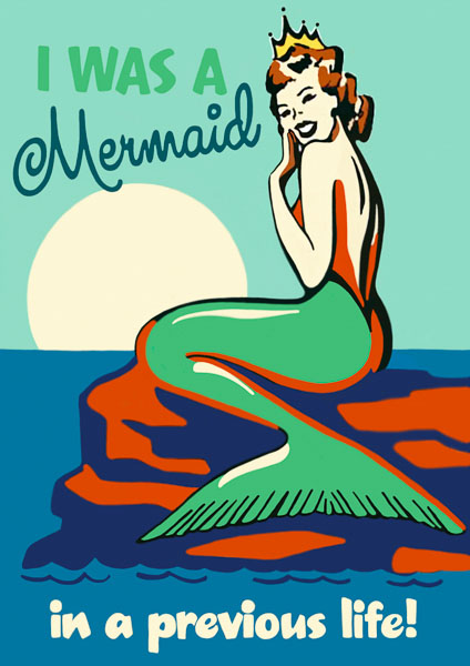 Madame Treacle Mermaid greeting Card