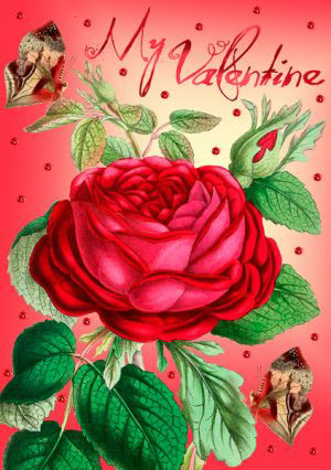 Madame Treacle Valentine greeting Card