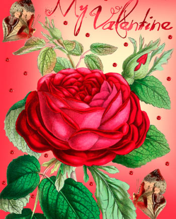 Madame Treacle Valentine greeting Card