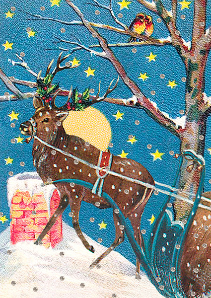 Madame Treacle Christmas Glitter Greeting Card