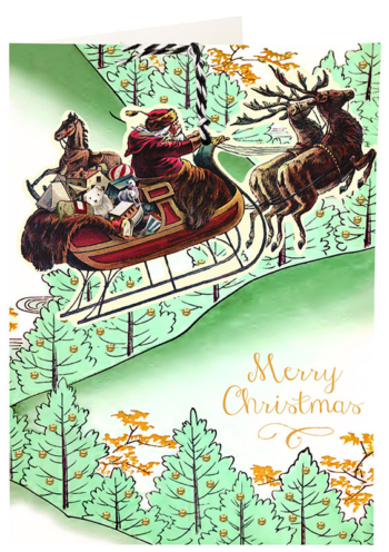 Madame Treacle Christmas Fandangle greeting card