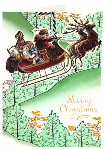 Madame Treacle Christmas Fandangle greeting card
