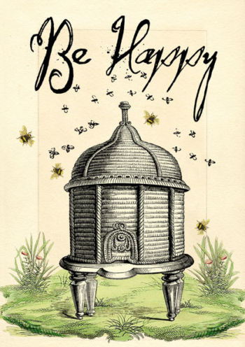 Madame Treacle Be Happy Greeting cards