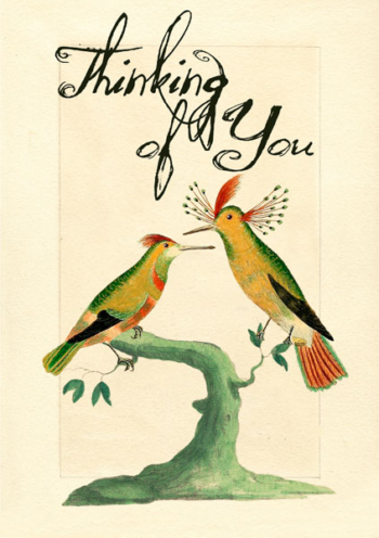 Madame Treacle Thinking Of You Greeting cards